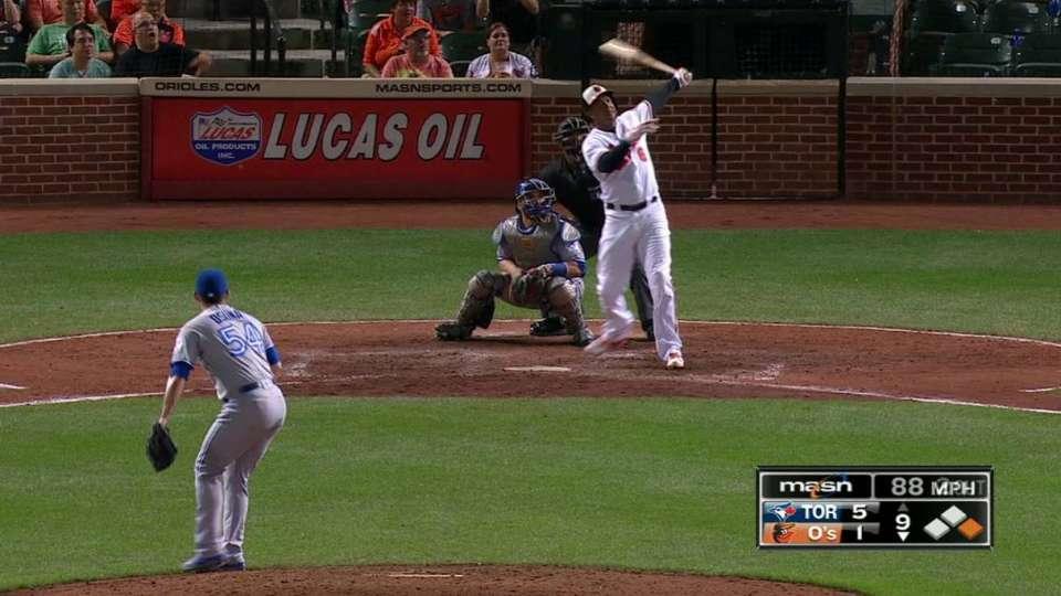 Schoop's towering two-run homer