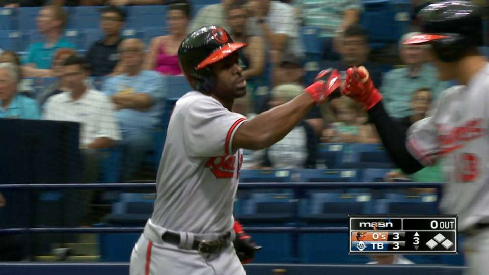 Bourn's first Orioles homer