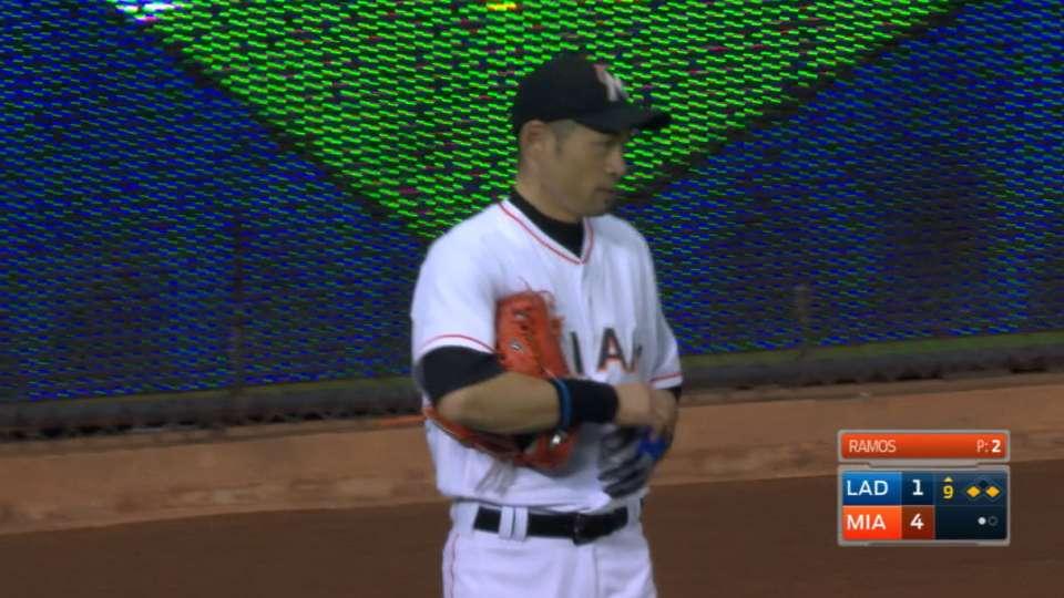 Buena atrapada de Ichiro