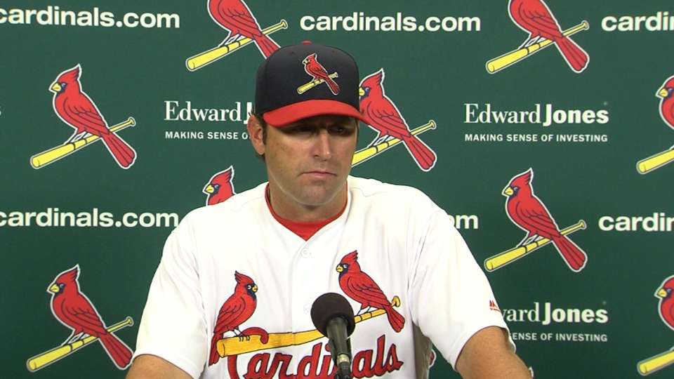 Matheny on 2-1 loss to Brewers