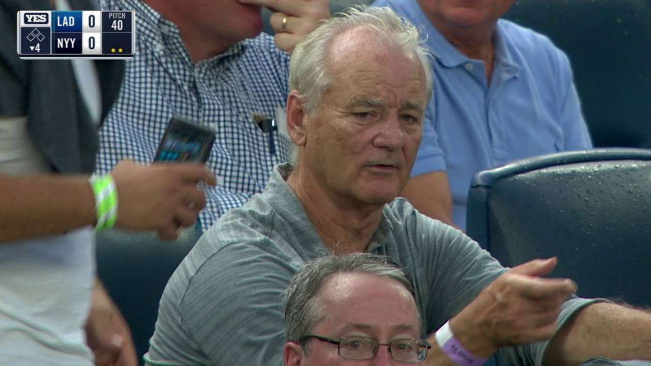 bill murray in attendance at yankee stadium mlb com