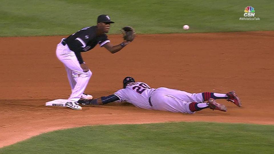 With Jason Kipnis batting, Rajai Davis steals (36) 2nd base.