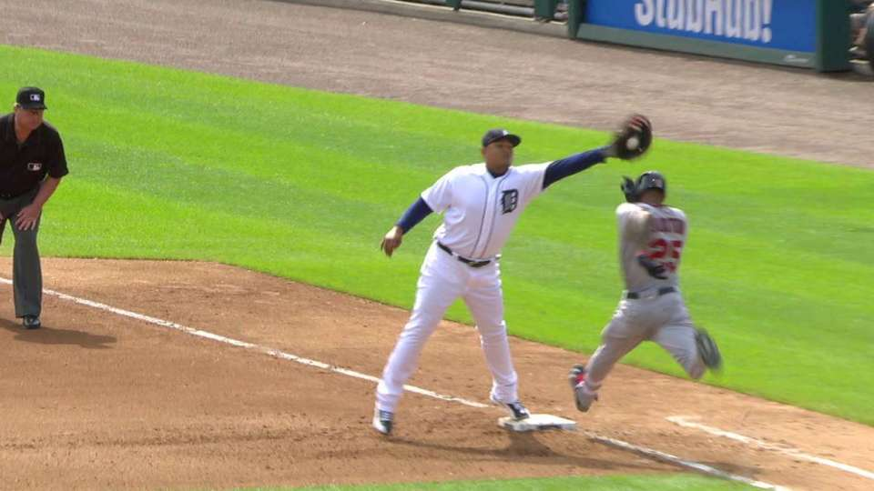 McCann throws out Buxton