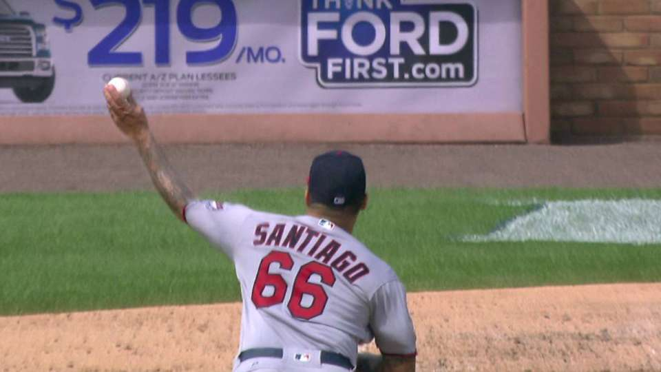 Santiago strikes out Kinsler