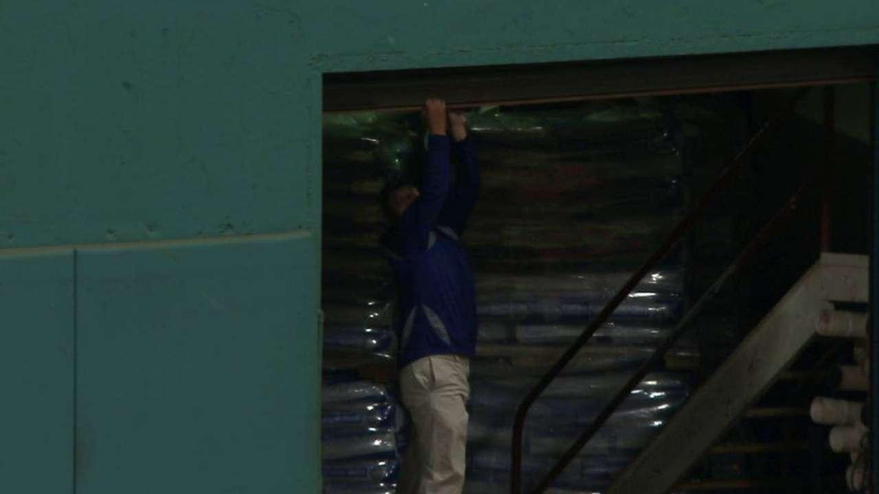 Garage door left open & Fenway Park garage door doesn\u0027t close and delays third inning of Red ...
