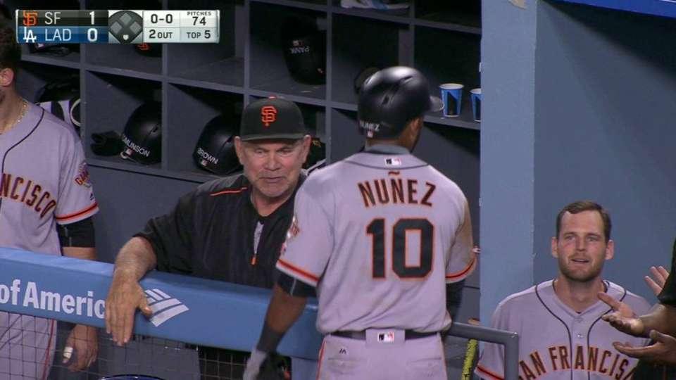 Nunez homers after review