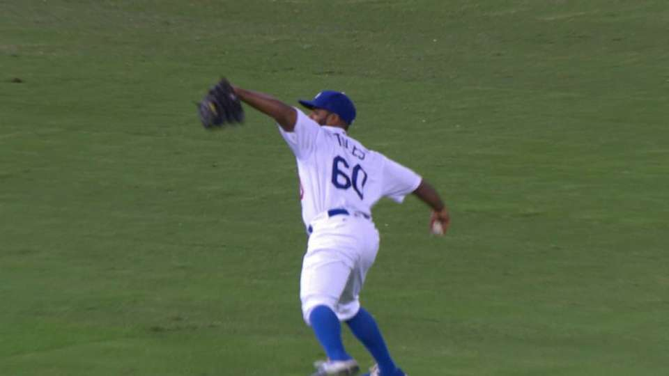 Toles' perfect throw home