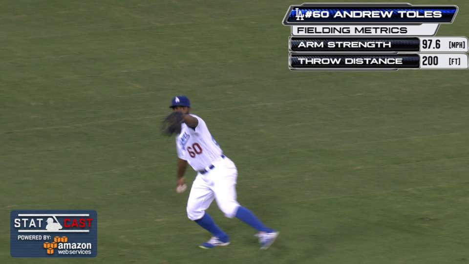 Statcast: Toles' 98-mph throw