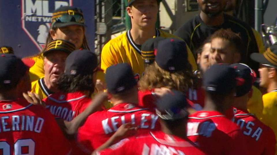Cole ejected, benches clear