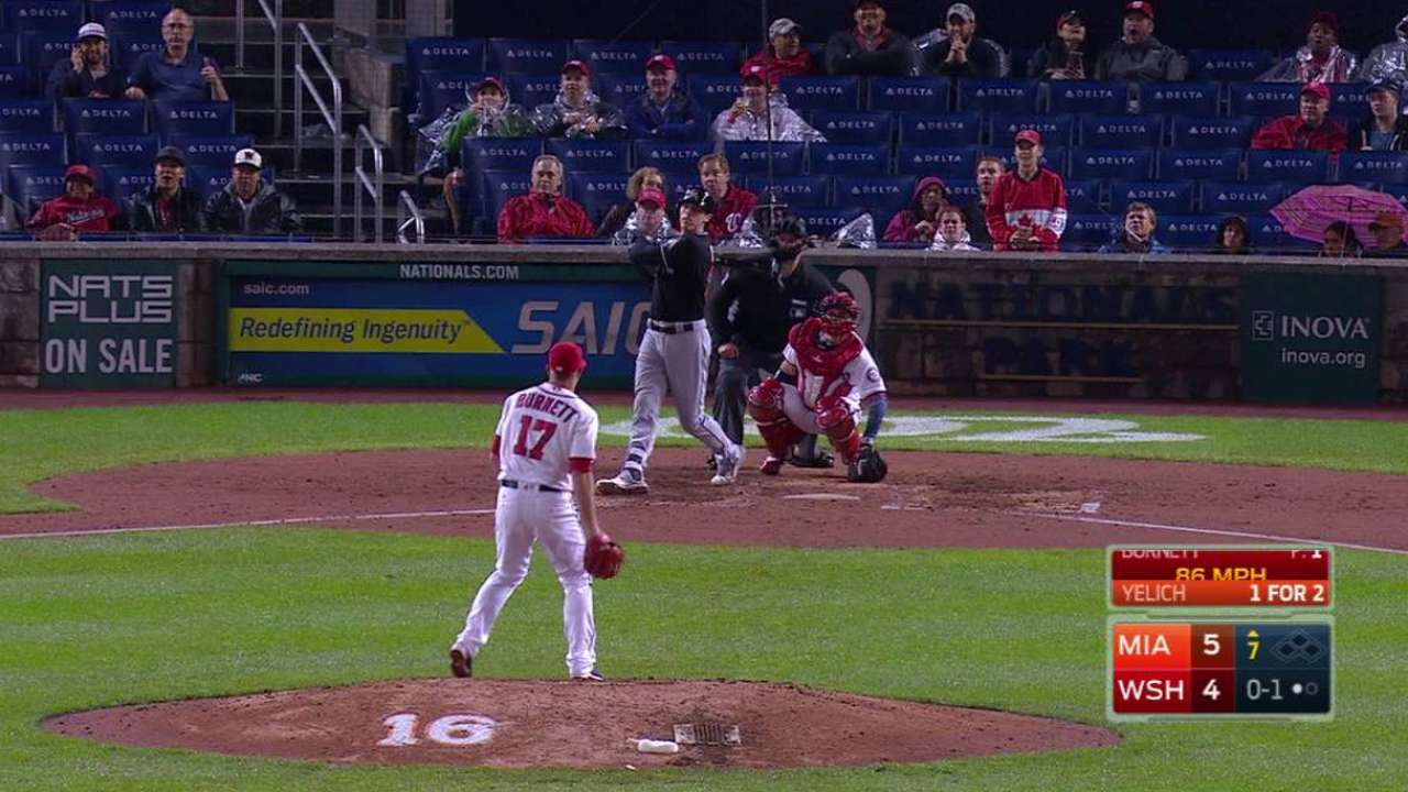 Yelich's solo jack  Marlins put off Nats' bid for NLDS house box mlbf 1197337683 th 45