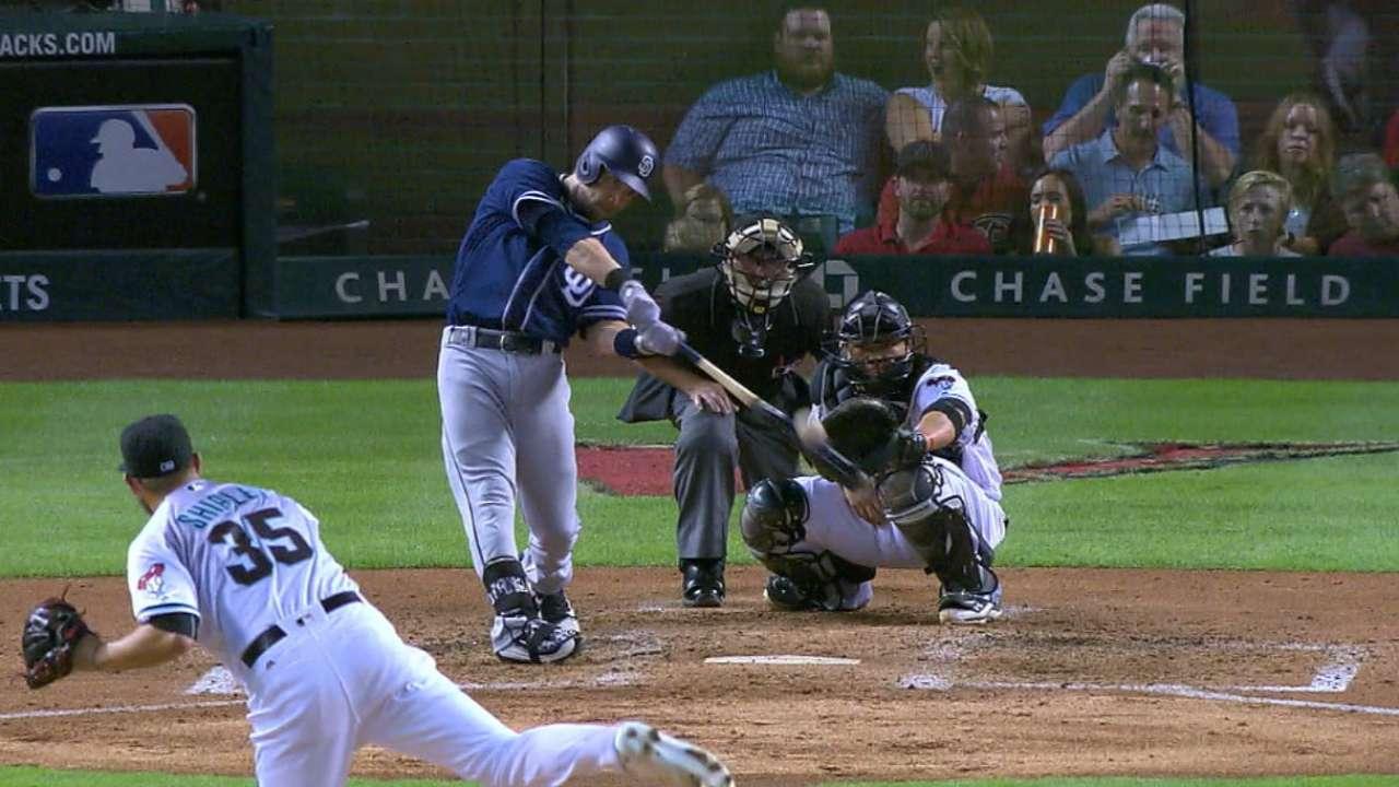 ed997f77f Padres' Ryan Schimpf combines power, patience   San Diego Padres