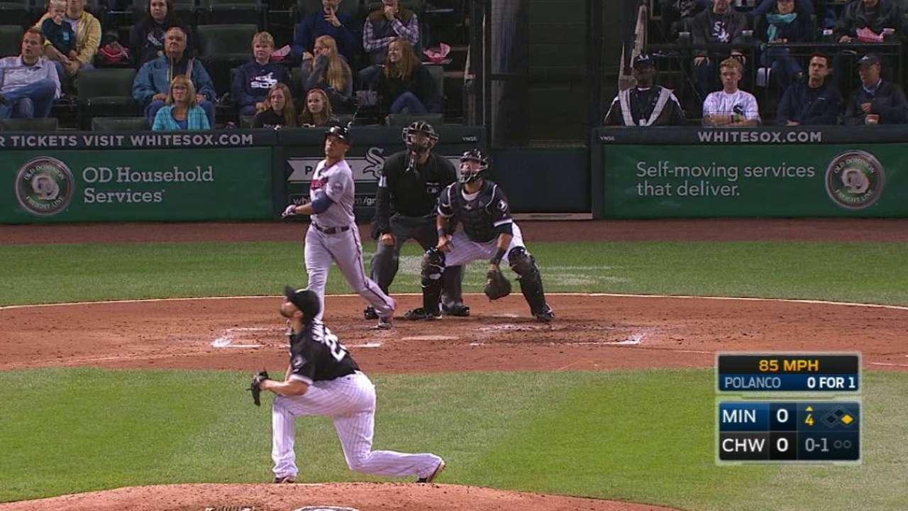 HR de Polanco impulsa a Mellizos sobre White Sox