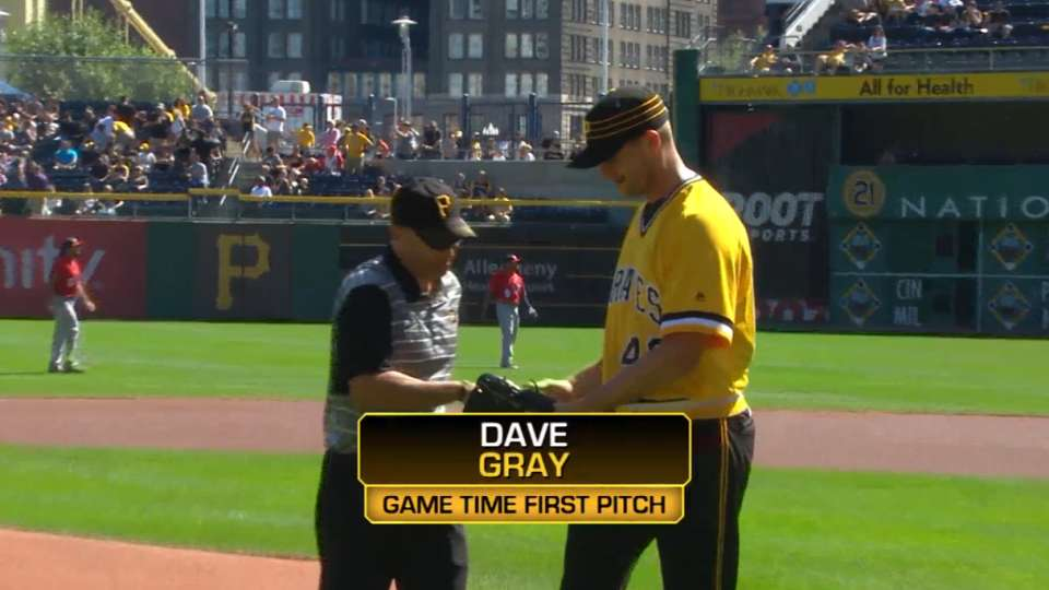 Pirates First Pitch: Gray