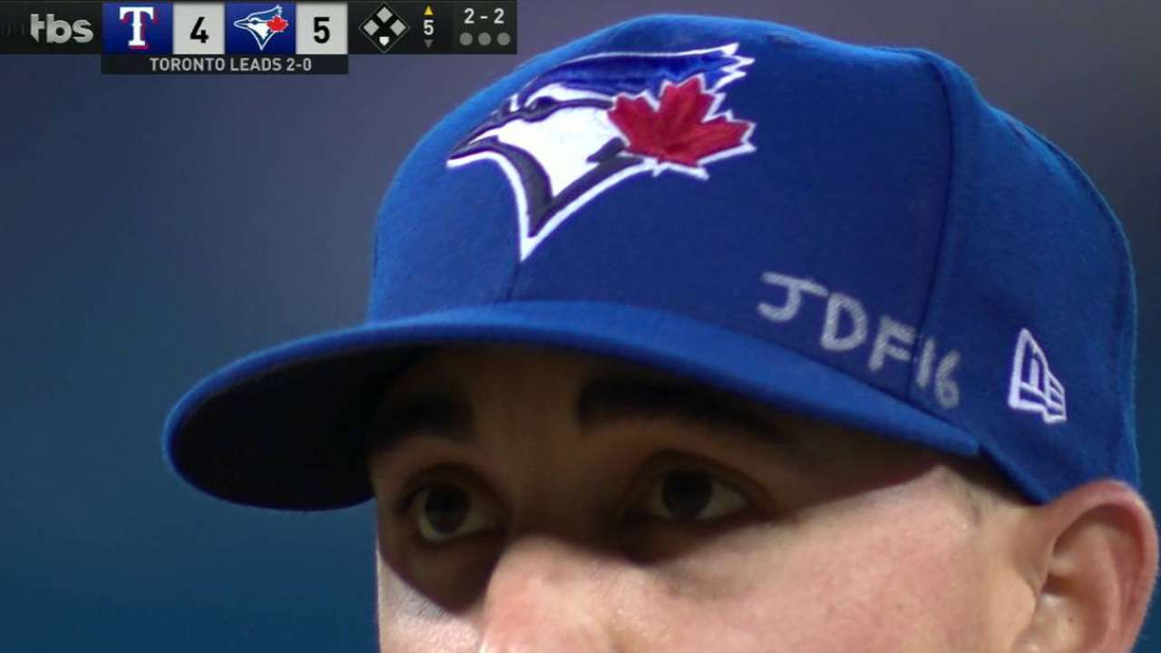 0cb60f4b81b Aaron Sanchez pays tribute to Jose Fernandez