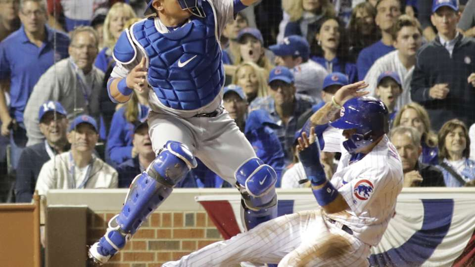 Maddon on Baez stealing home