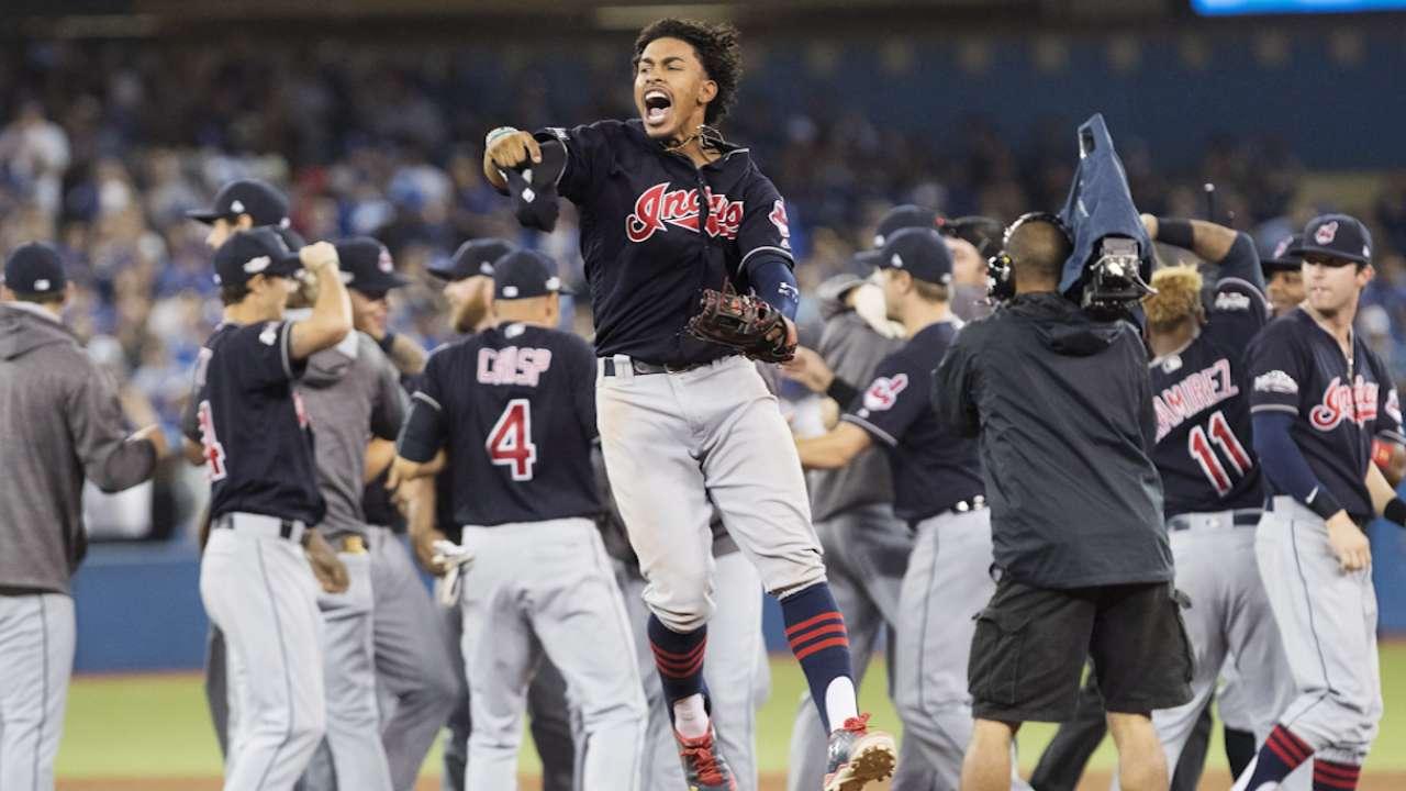 d2f7f32b2 Indians beat Blue Jays to win AL pennant | MLB.com
