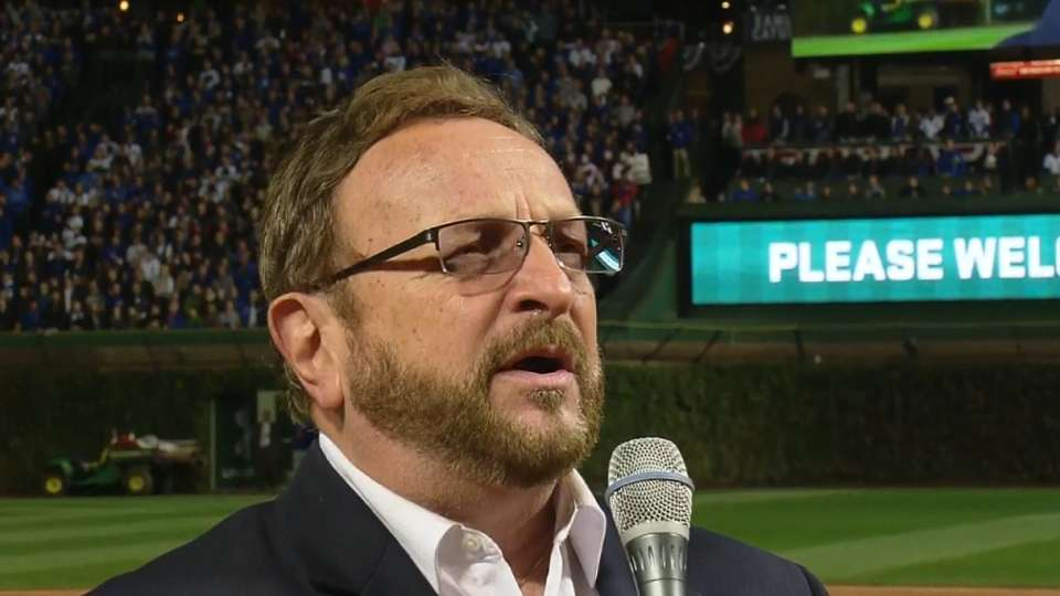 Messmer sings before game