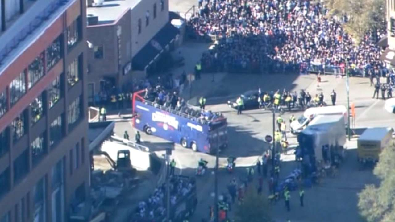 Parade passes Wrigleyville Chicago Cubs