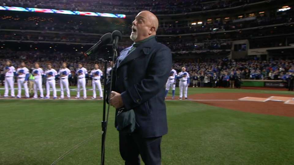 Billy Joel sings national anthem