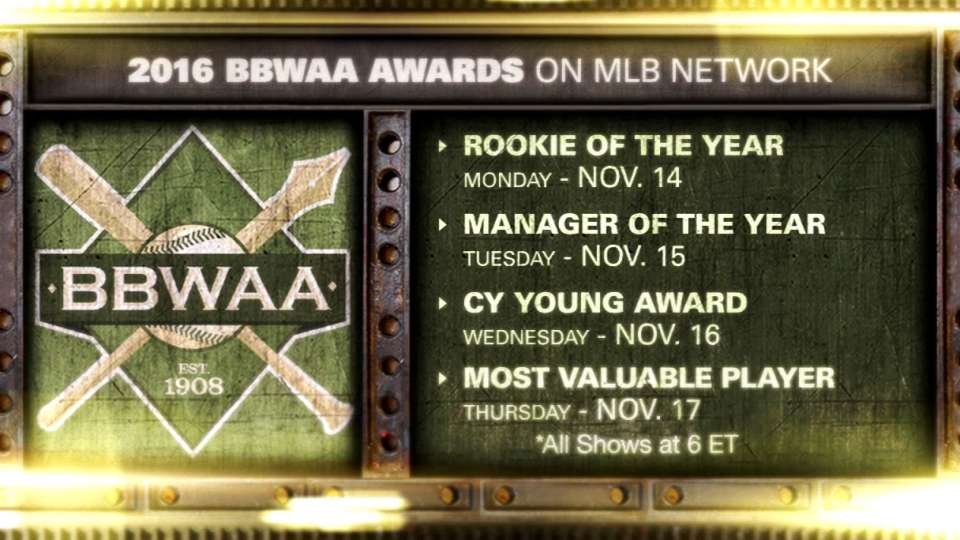 2016 BBWAA Awards on MLB Network