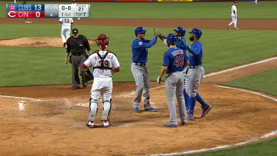 Cubs hit five home runs