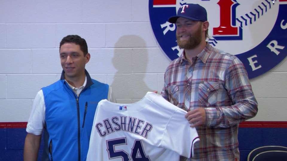 Rangers introduce Andrew Cashner