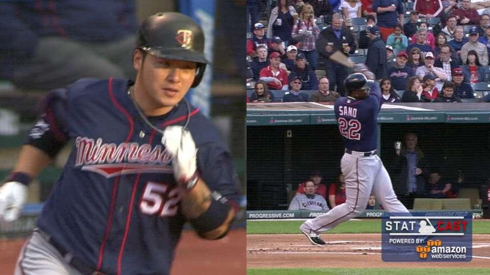 Statcast: Twins' longest homers