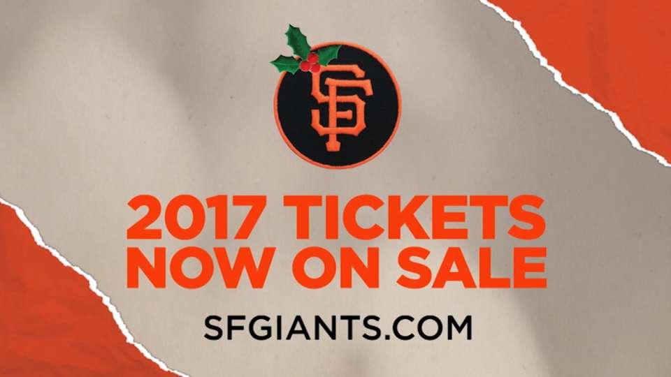 2017 Giants Tickets on sale