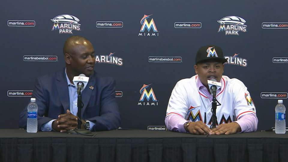 Volquez on Marlins Park