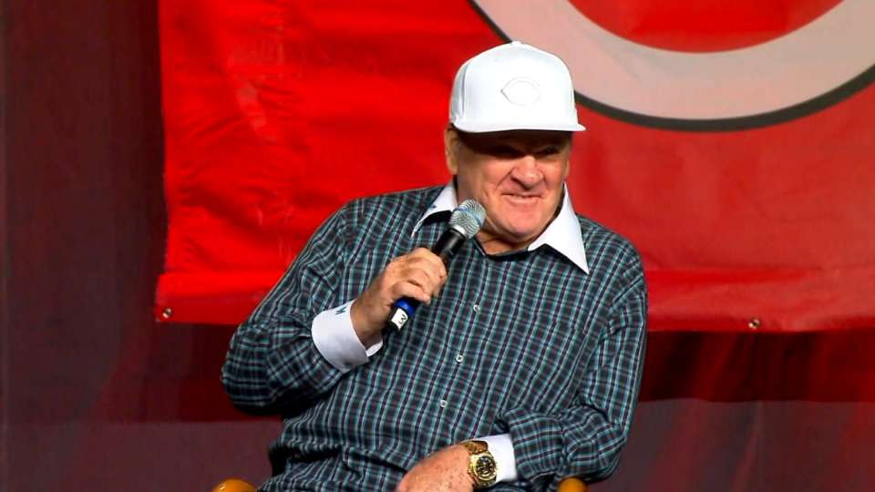 Pete Rose on all-time hit record