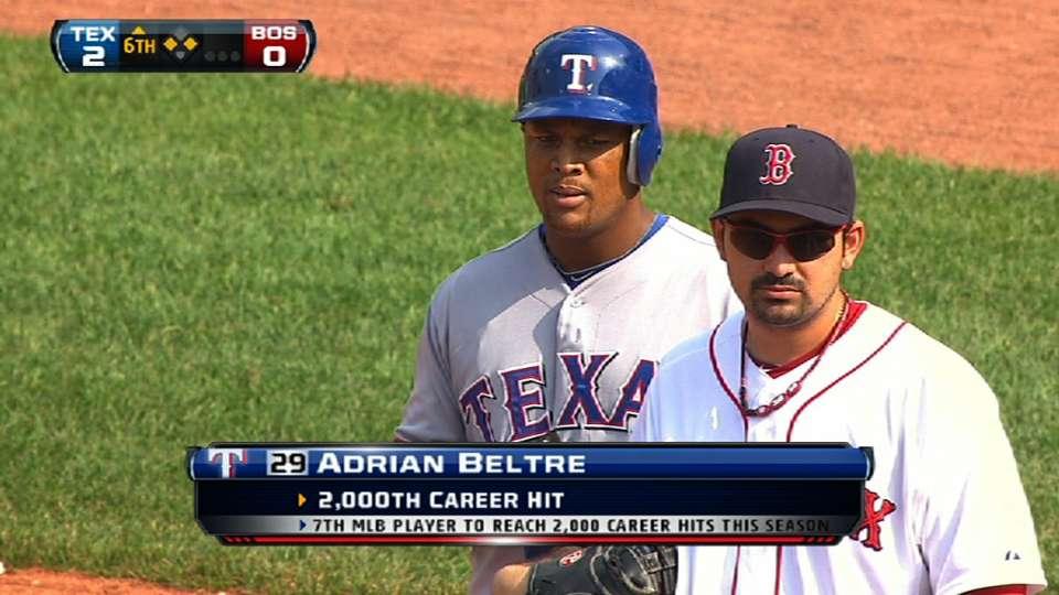 Beltre's 2,000th career hit