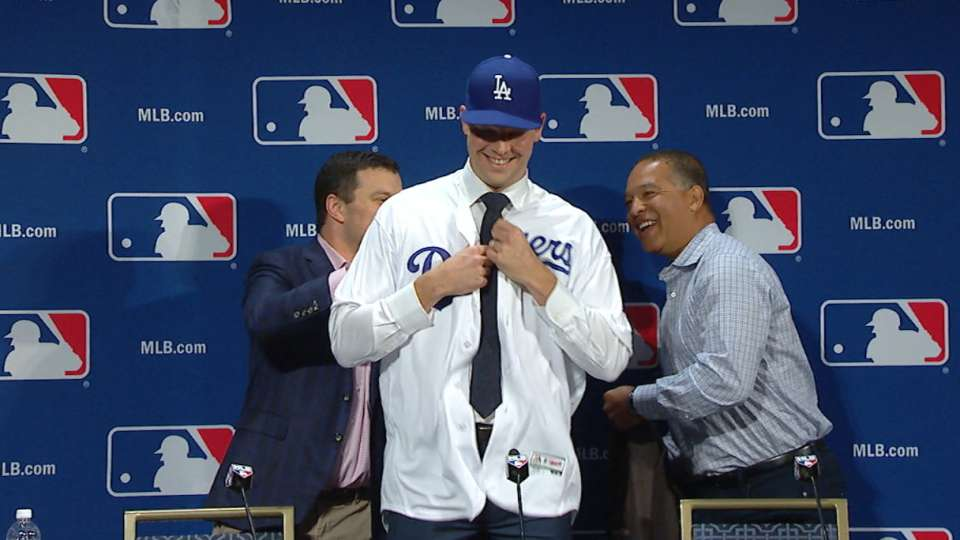 Hill on re-signing with Dodgers