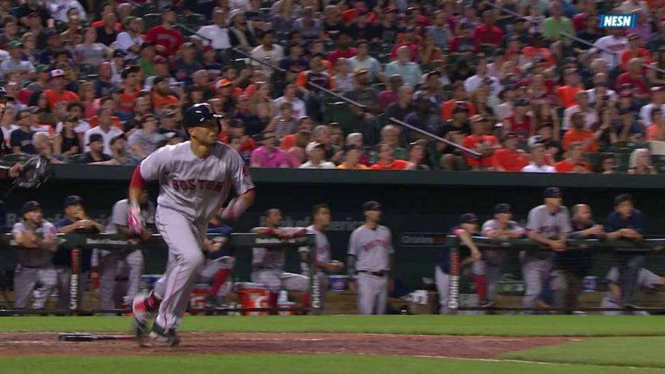 Betts' third homer of the game