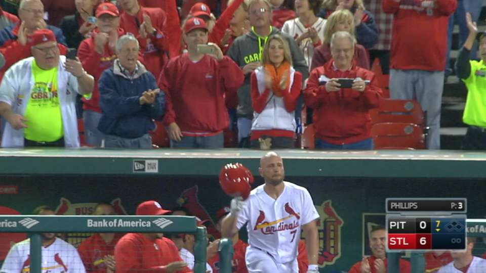 Holliday returns with home run