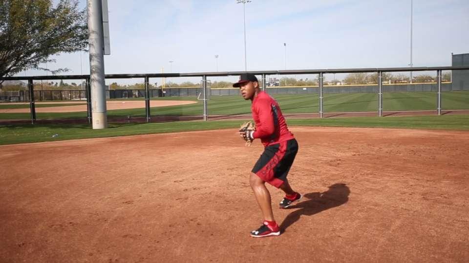 Tomas progressing at third base