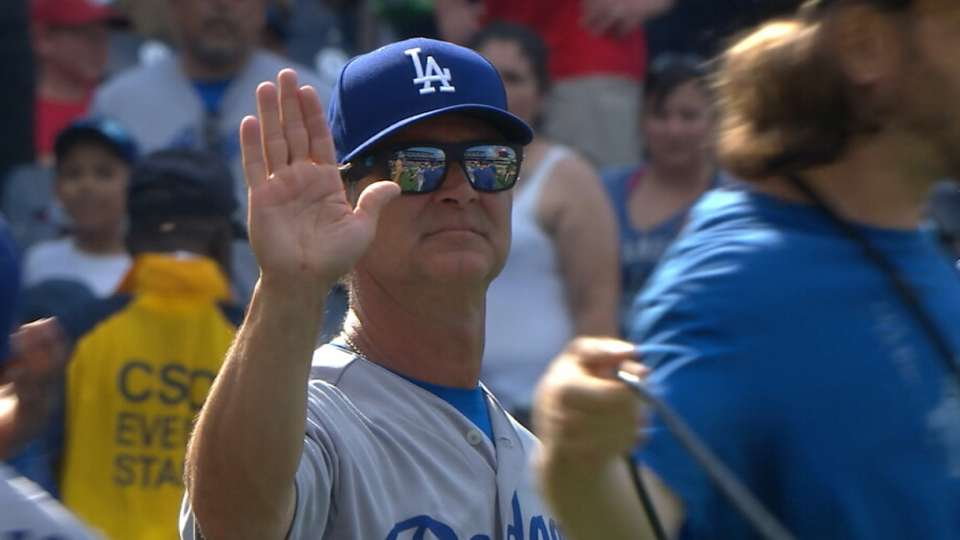 Justice on Mattingly, Dodgers