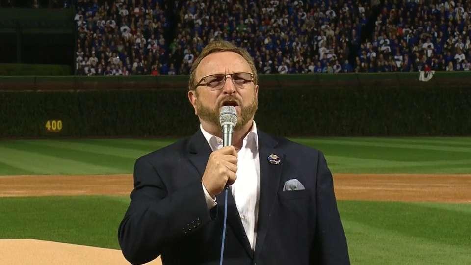 Messmer performs national anthem