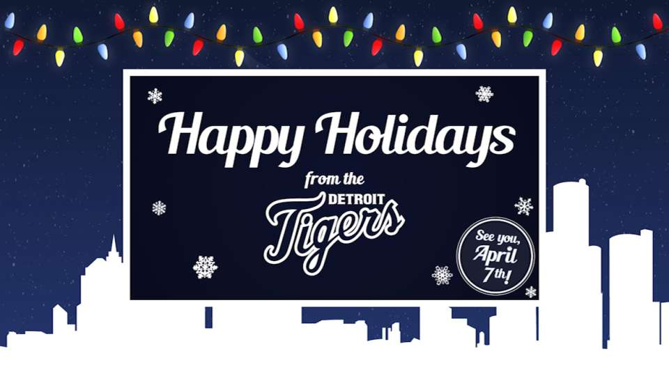 Detroit Tigers Holiday eCard