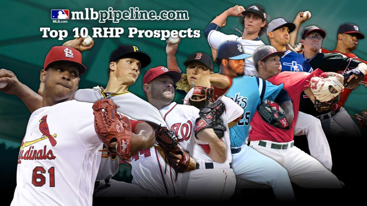 2017 Top 10 Right Handed Pitching Prospects Mlb Com