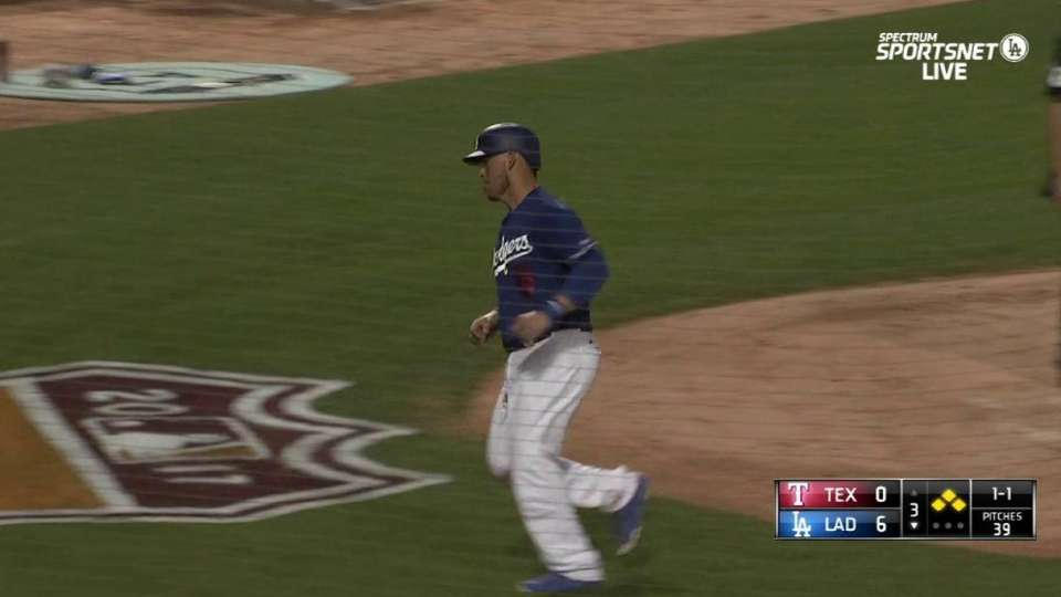 Grandal scores on double play
