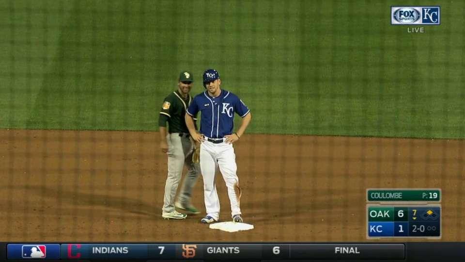 Moss swipes second base