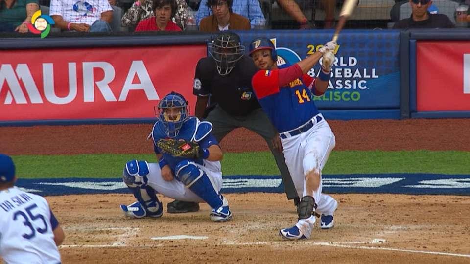 Prado's two-run double to right