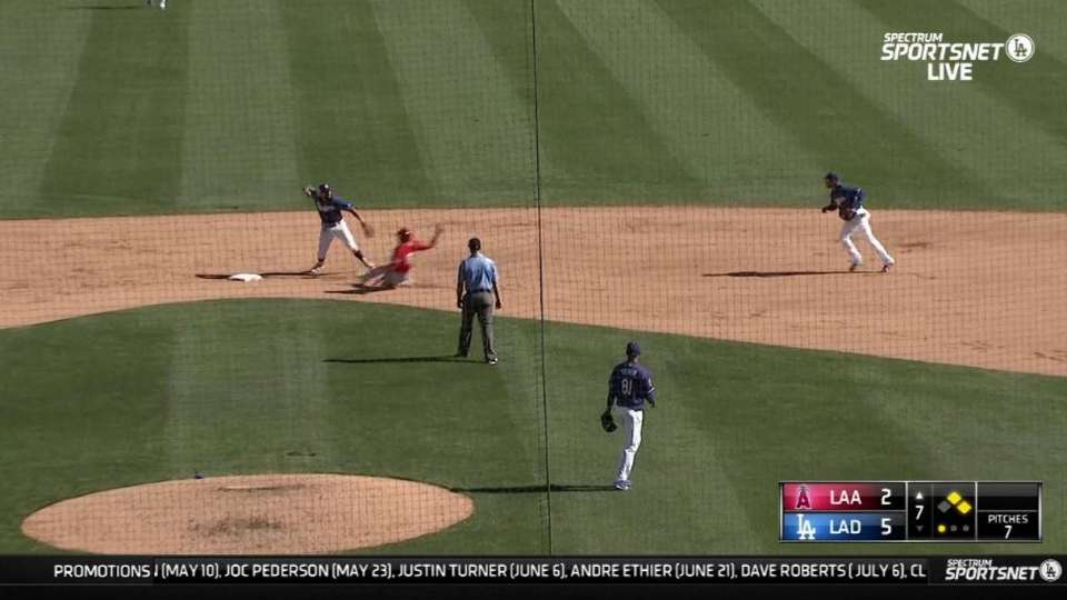 Sierra induces double play