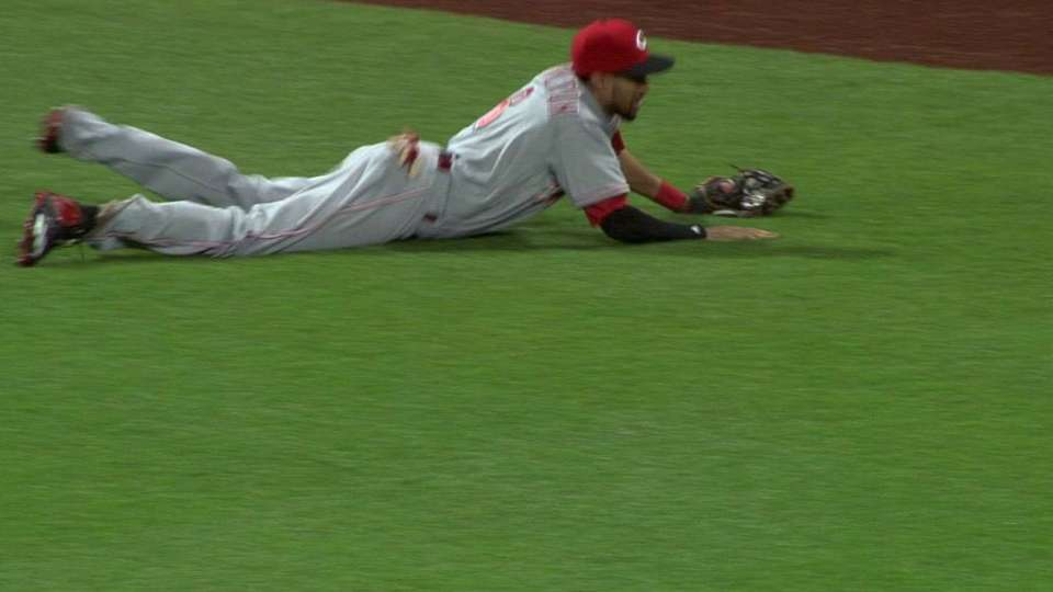 Hamilton's great leaping catch