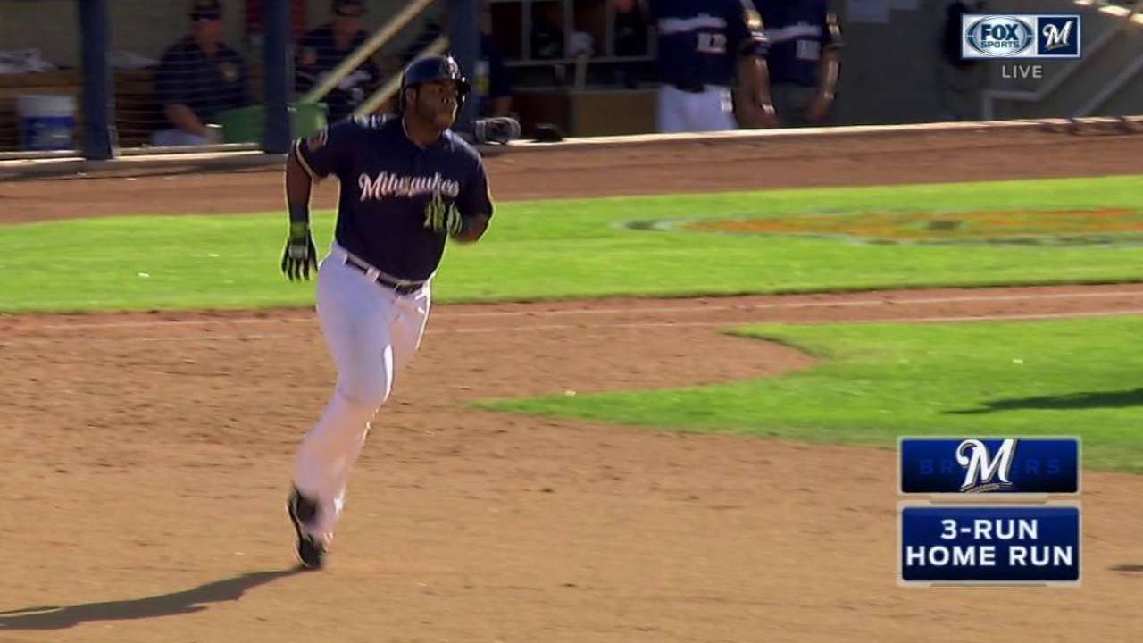 Brewers Announce Jesus Aguilar Made Roster Sgaguilar Javier Ramos Electrical Current And Electric Circuits Aguilars Epic Three Run Homer