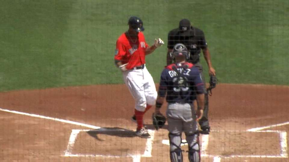 Bogaerts' first spring homer
