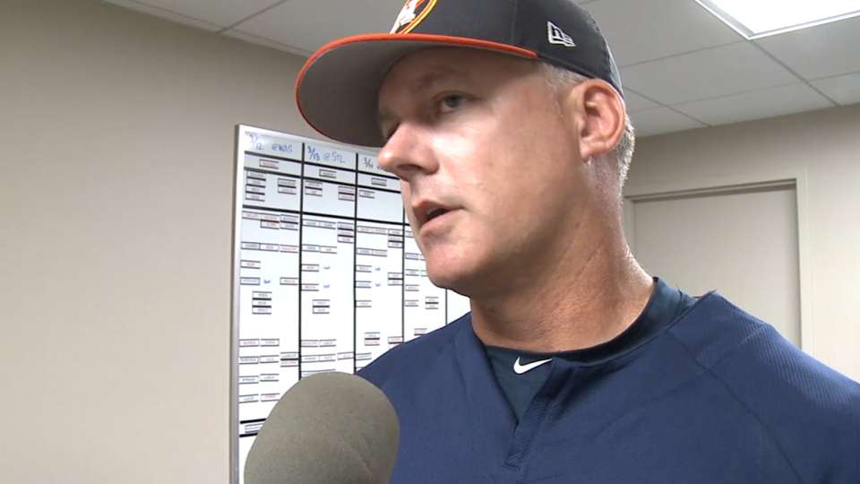 Hinch on Martes' outing