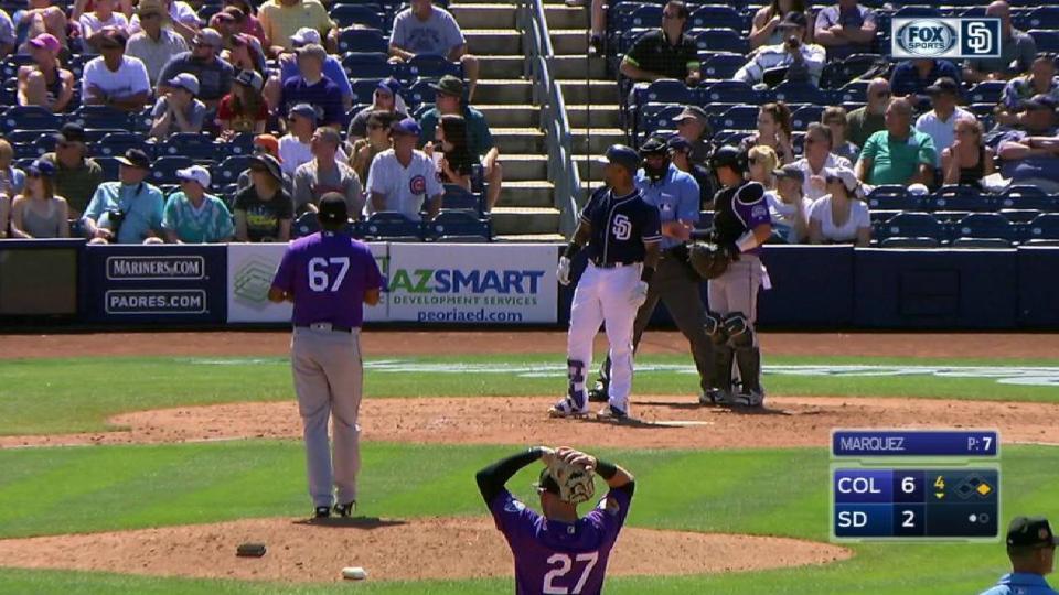Fan gets hit with errant bat