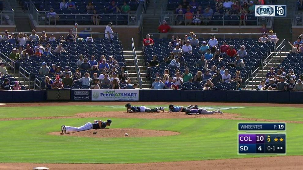 Bees swarmed the Padres-Rockies game and forced players to literally hit the ground