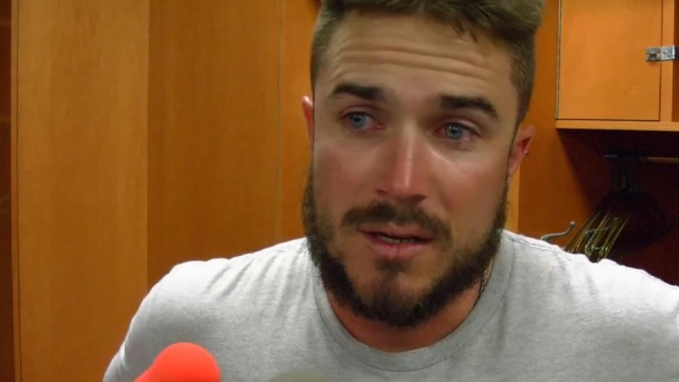The Phillies' Brock Stassi made his first Major League roster and was overcome with emotion